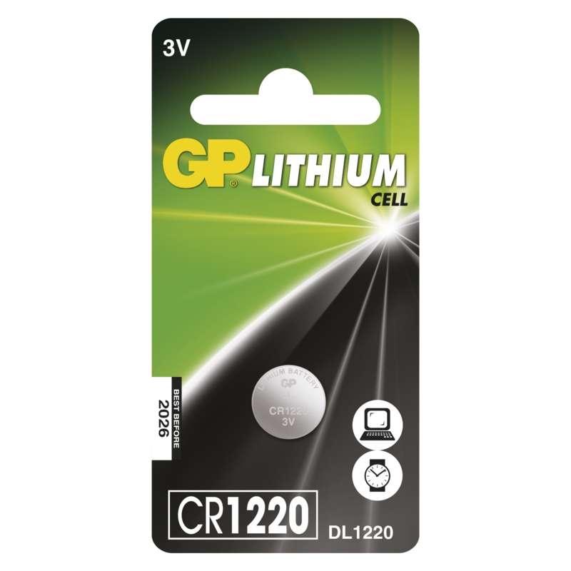 Baterie CR 1220 3V GP Lithiová knoflíková