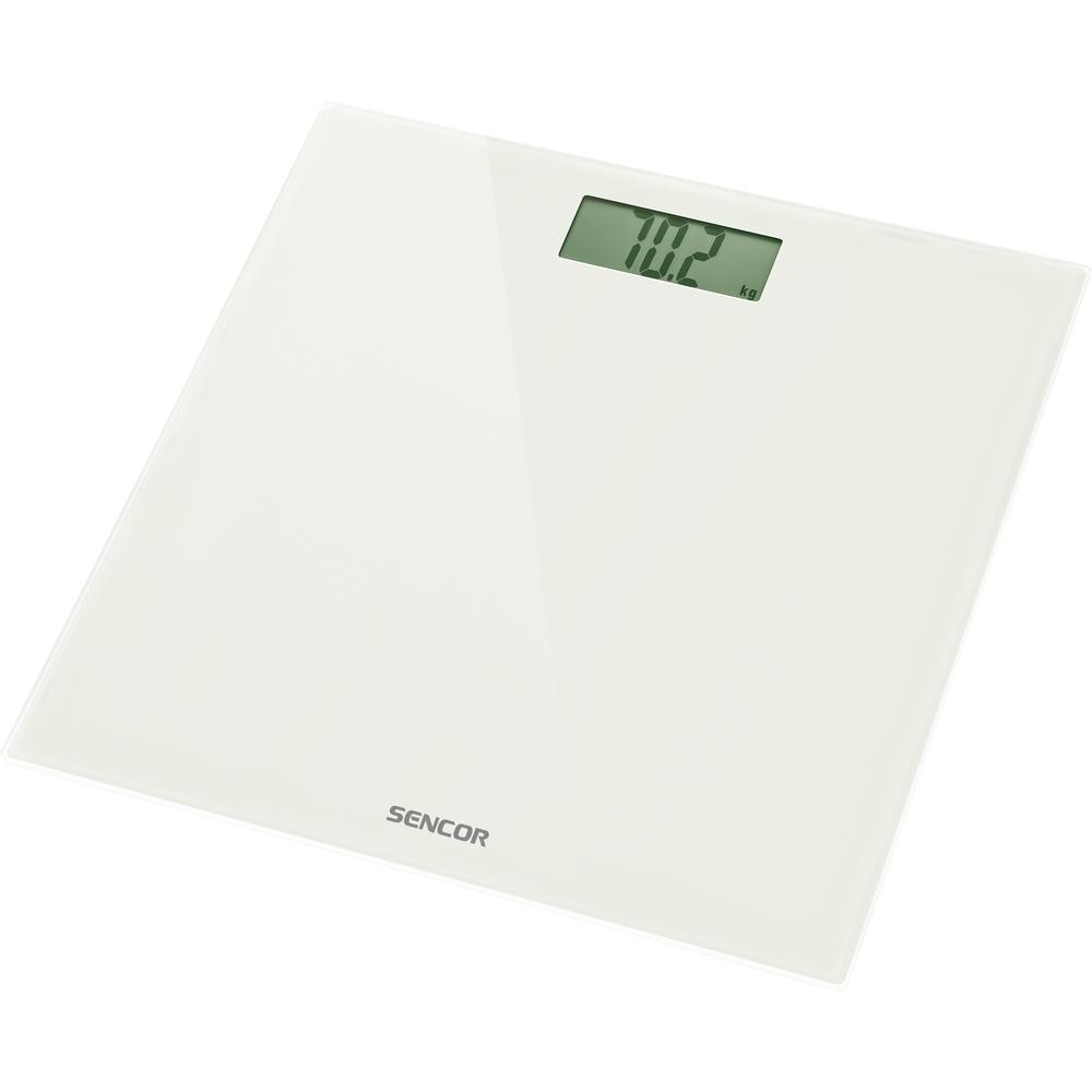 Váha osobní SENCOR SBS 2301WH LCD 150kg sklo bílá