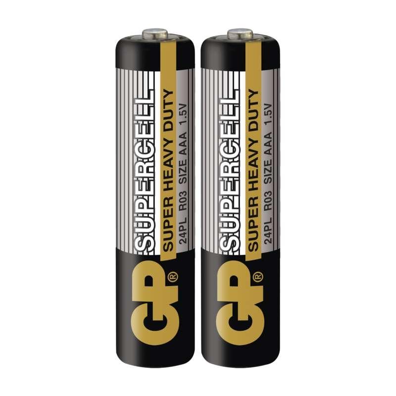 Baterie LR3 1,5V GP ZiNc Supercell R03 AAA (mikrotužková) 1ks