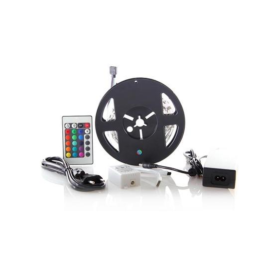 Sada LED 12V RGB IP20 3m 7,2W/m páska s adaptérem a ovladač