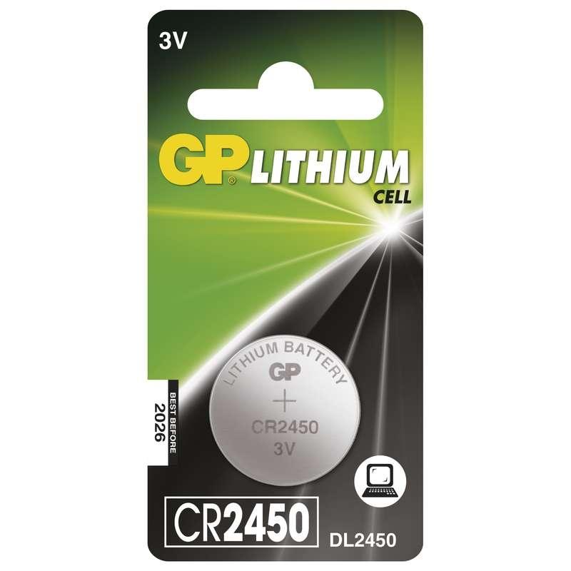 Baterie CR 2450 3V GP Lithiová knoflíková