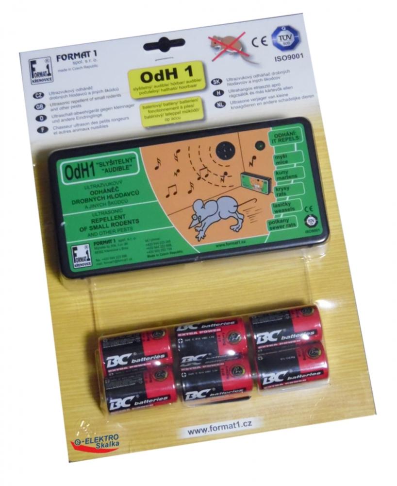 Odpuzovač hlodavců Format1 OdH1S Slyšitelný a baterie