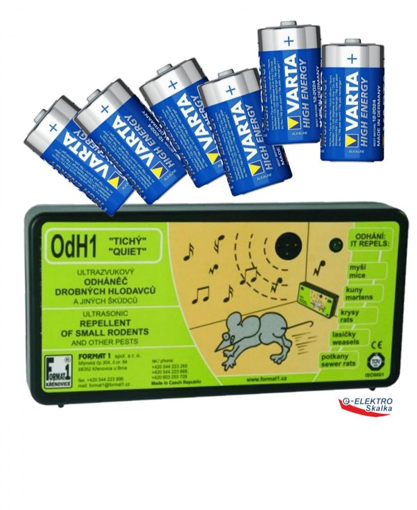 Odpuzovač hlodavců Format1 OdH1T Ultrazvukový s bateriemi