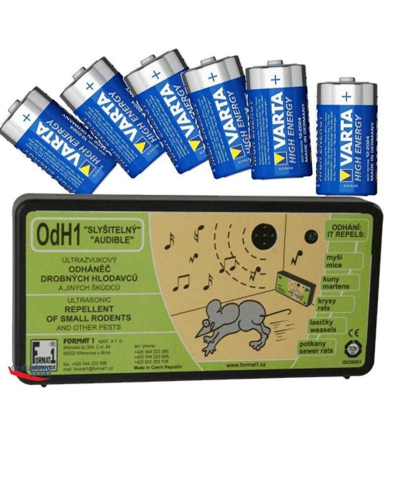 Odpuzovač hlodavců Format1 OdH1S Akustický s bateriemi