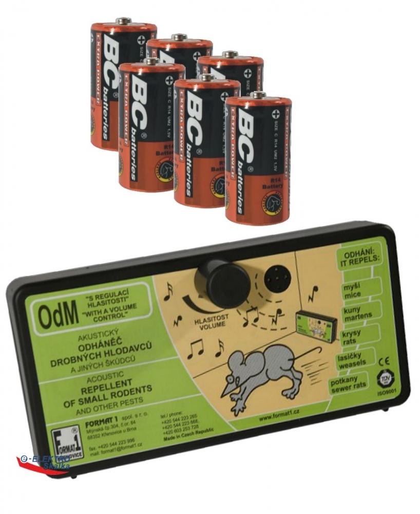 Odpuzovač hlodavců OdM Format1 s Regulací zvuku a baterie
