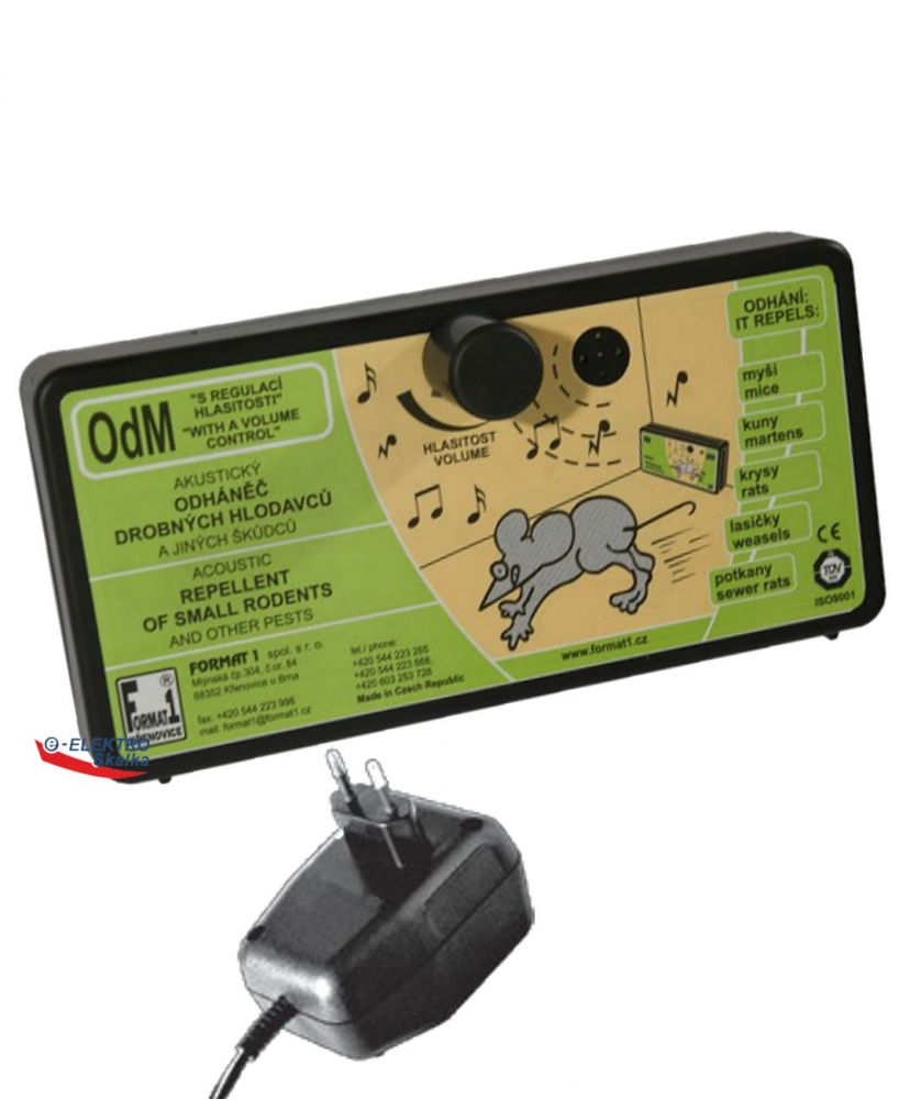 Odháněč hlodavců OdM Format1 s Regulací zvuku a zdroj