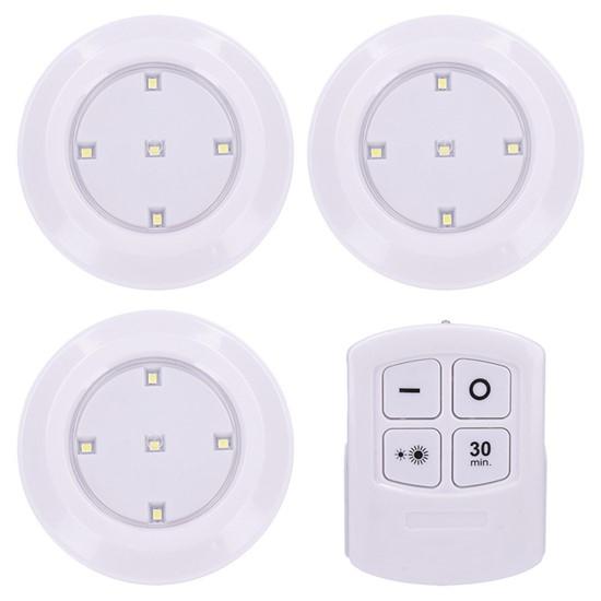 Noční LED 1W 3x světélka na baterie a dálkový ovladač