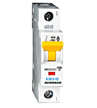 Jistič B25A/1 10kA BM018125CZ SCHRACK hlavní jednofázový