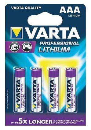 Baterie LR3 1,5V VARTA PROFESSIONAL Lithiová AAA (mikrotužková) 1ks