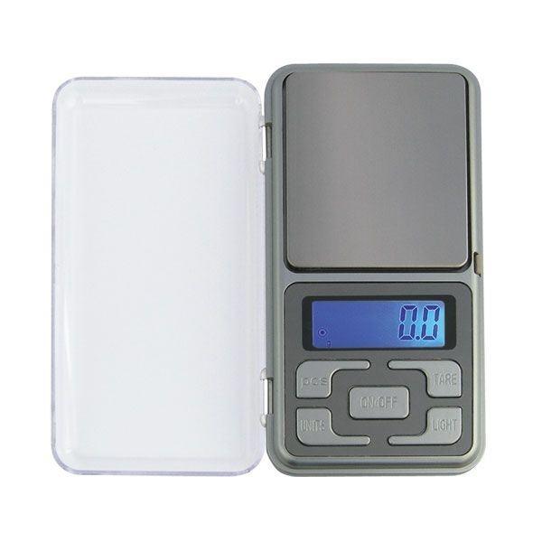 Kapesní váha 200 x 0,01g, TARA, LCD modré na 2×AAA baterie