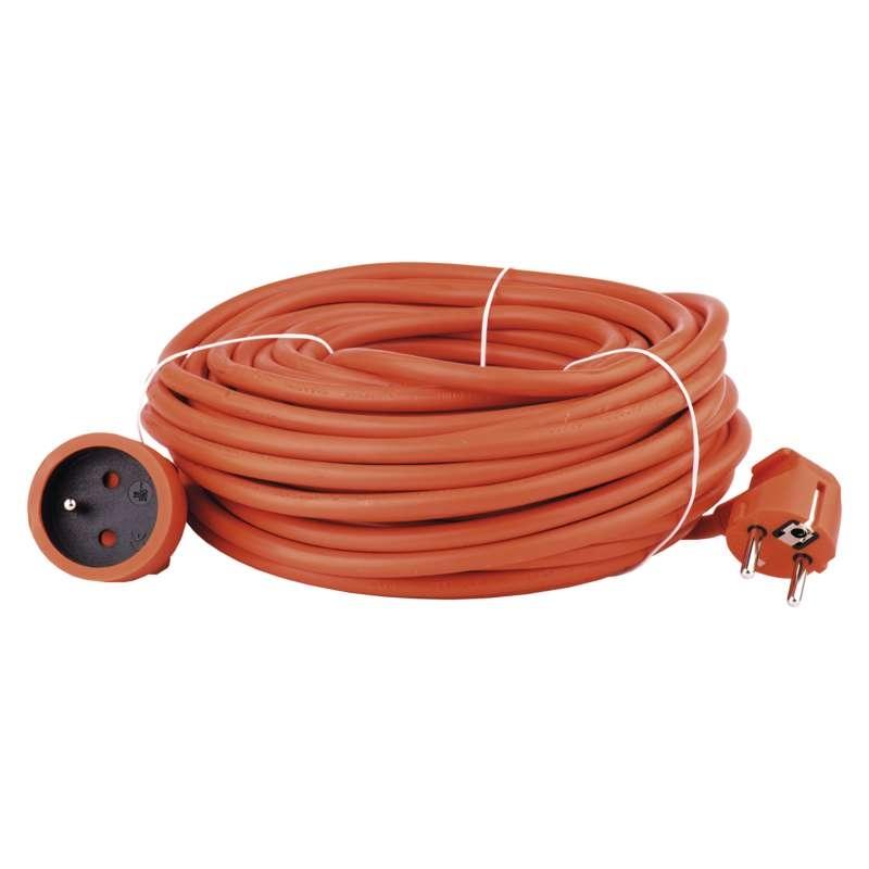 Prodlužovací kabel 20m/spojka 3x1,5mm2, PVC oranžový