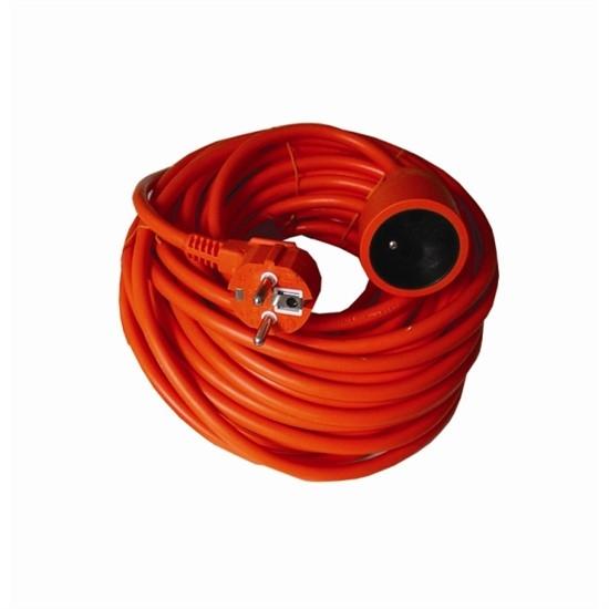 Prodlužovací kabel 30m/spojka 3x1,5mm, PVC oranžový