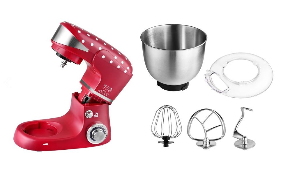 Kuchyňský robot KALORIK M 3014 1000W červený s nerez mísou