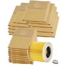 HEPA Filtr do vysavače KARCHER WD3.800 a sáčky 1+20ks
