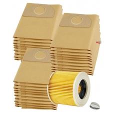 HEPA filtr a sáčky pro KARCHER WD3.2001 papírové 1+30ks