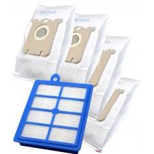 Sada sáčků a HEPA Filtr pro ELECTROLUX ErgoSpace XXL 42 , 1+4ks sáčků