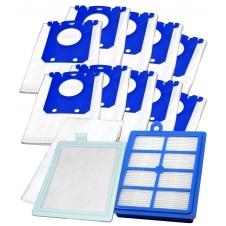 HEPA filtr v sadě pro S-BAG PHILIPS HR 6368 CityLine , 10ks sáčků s filtry