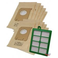 Filtr HEPA a sáčky pro PHILIPS FC 9184 PerformerPro papírové 1+10ks